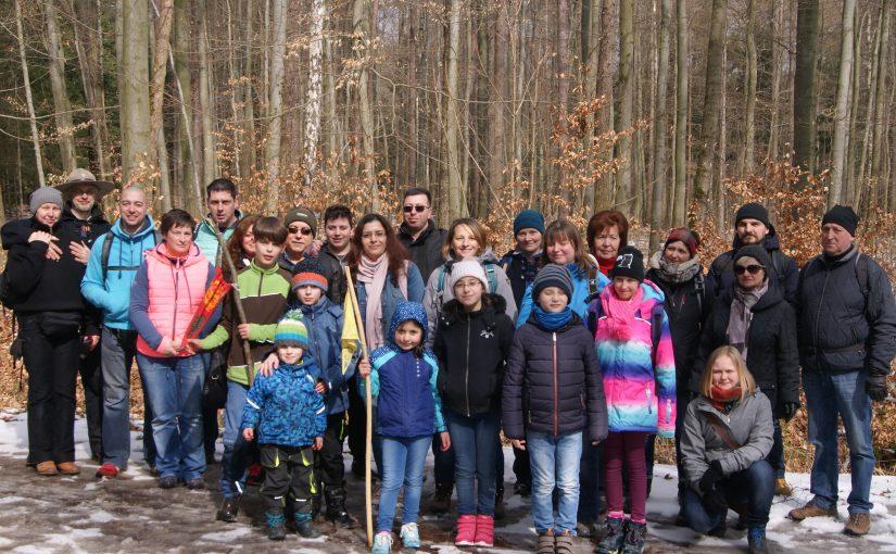 Familienwanderung der Wölflinge